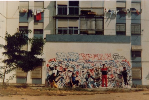 "Freeze Rockers, ""Primer grafiti en Sevilla"",1984"