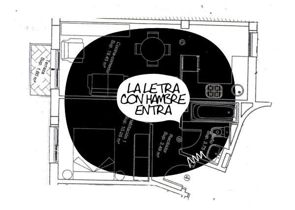 """Manola, """"La letra con hambre entra"""", 2012"""