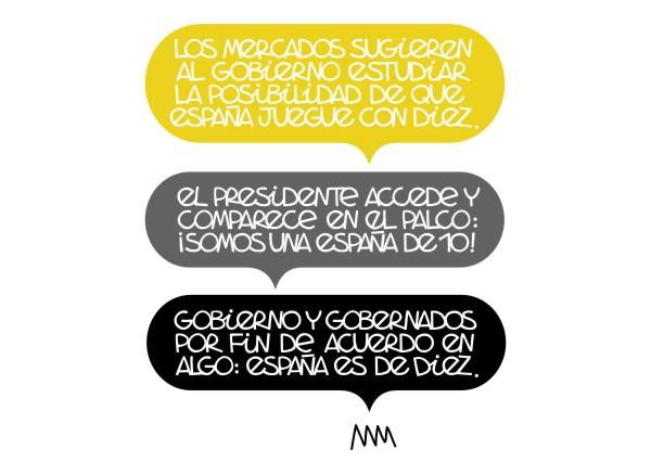"""Manola, """"España jugara con diez"""", 2012"""